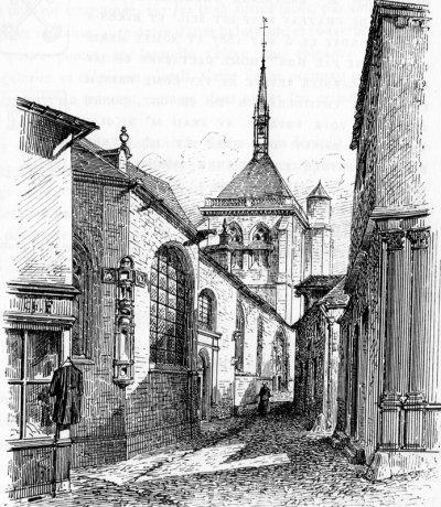 Ervy le Châtel, rue St pierre, impasse Thiesson gravure