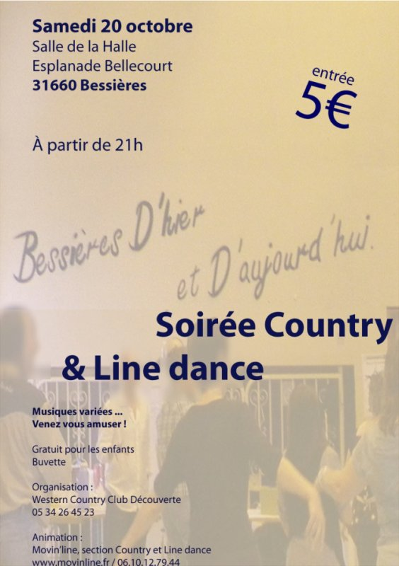 SAMEDI 20 OCTOBRE SOIREE LINE DANCE A BESSIERES