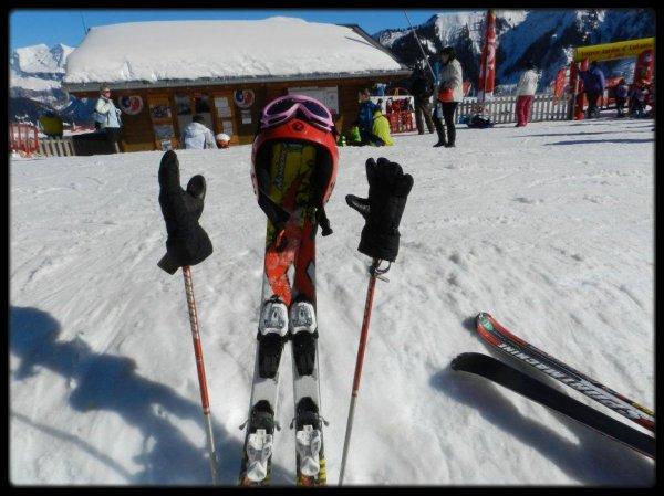 La fille à skis....