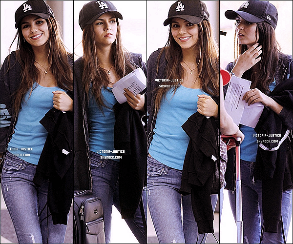 18 Août 2010 Victoria arrivant à l'aéroport de LAX de Los Angeles.
