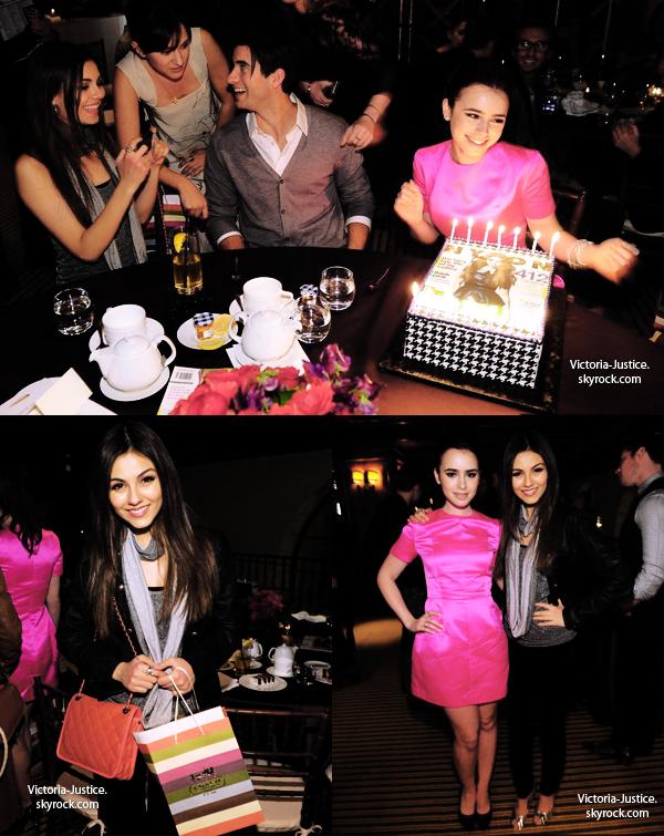 6/3/12 Victoria s'est rendue à la fête du magazine Nylon avec la cover-girl à Beverly Hills en Californie