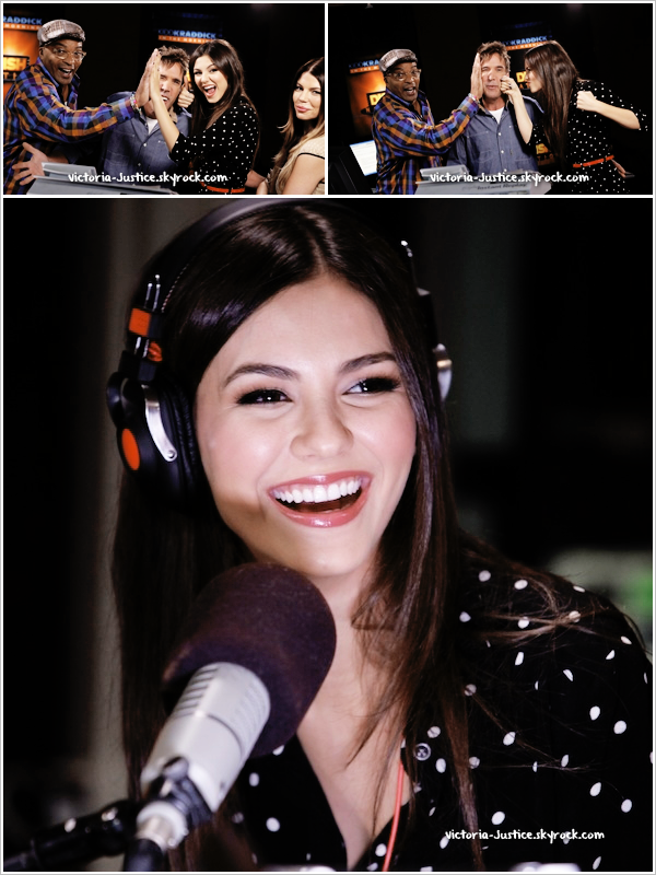 9/10/12     Victoria a commencé la promo' du film Fun Size à l'émission radio  Kidd Kraddick in the Morning.