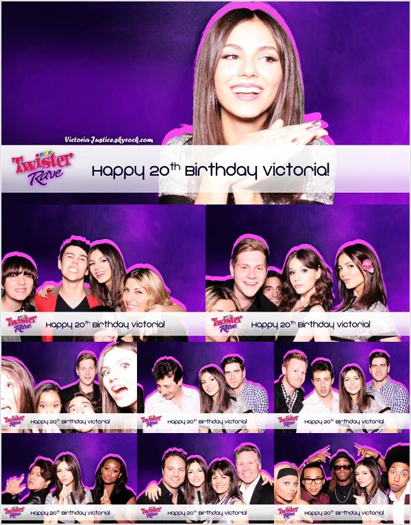 2/03/13   Vic' a fêté ses 20 ans en compagnie de ses amis et proches. Puis, ils ont réalisé un petit photoshoot.