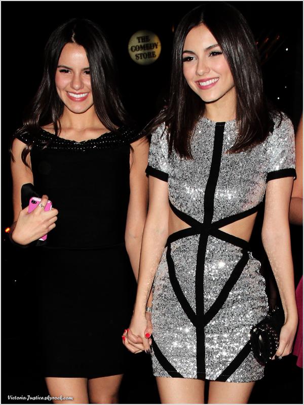 2/03/13   Victoria s'est rendue à son vingtième anniversaire accompagnée de sa petite soeur Madison Justice.