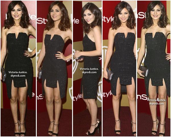 13/01/13   Victoria  était au Instyle & Warner Bros 17ème Annuelle Post-Fête des Golden Globes au Oasis Courtyard