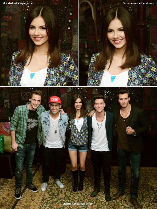 01/04/13   Vic' était à la conférence de presse du Summer Break Tour des Big Time Rush dont elle fait l'ouverture.