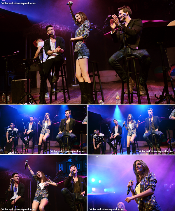 01/04/13     Victoria a chanté seule et avec les Big Time Rush au House of Blues à West Hollywood en Californie.