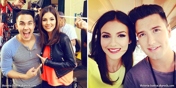 10/04/13   Victoria s'est rendue sur le plateau de la série Big Time Rush pour tourner l'épisode Big Time Tour Bus.