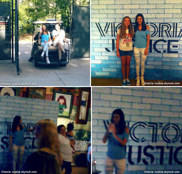 28 Juin 2013 | Vic' chantait au SBT au Cynthia Woods M. Pavilion à Houston + meet & greet.