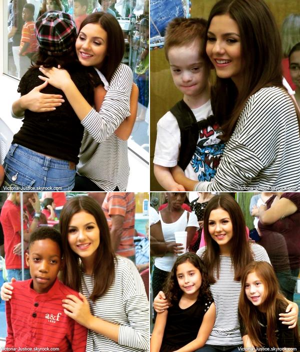 3 Juillet 2013 | Victoria s'est rendue à l'hôpital pour enfant d'Atlanta afin de les rencontrer