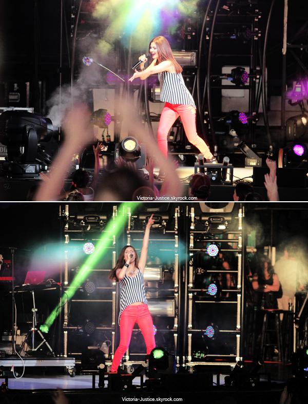 9 Juillet 2013 | Vic' chantait durant le SBT au Verizon Wireless Amphitheater Charlotte