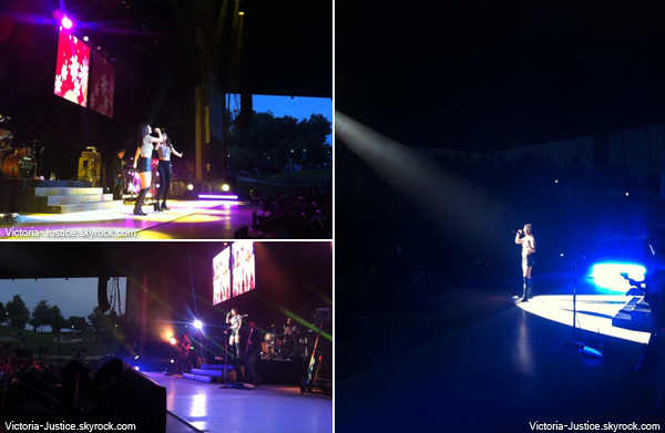 12 Juillet 2013 | Vic' chantait durant le Summer Break Tour au Bethel Woods Center, Bethel
