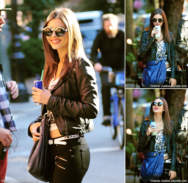 "18 Octobre 2013 | Vic' était sur le tournage de ""Naomi and Ely's No Kiss List "" à New York City."