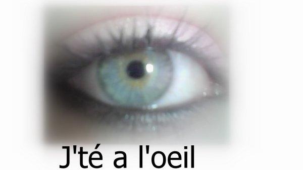 Les mots peuvent mentir , mais pas le regard ♥