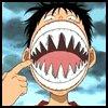 Luffy avec une super machoir ^^