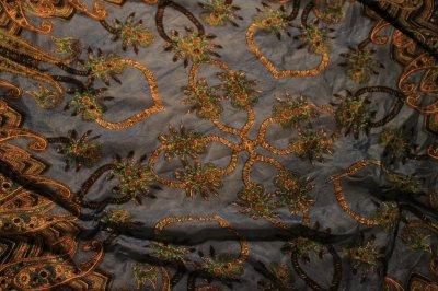 Foulard carré 100% lin, 1m de chaque côté