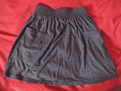 Jupe american apparel gris foncé taille S