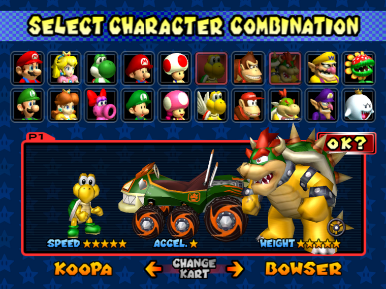 Personnages s ries mario kart - Mario kart wii personnages et vehicules ...