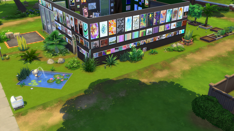 jeux pc sims 4 outside house paintings maison
