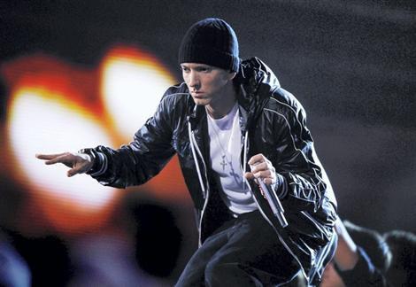 Eminem en concert au Stade de France à l'été 2013