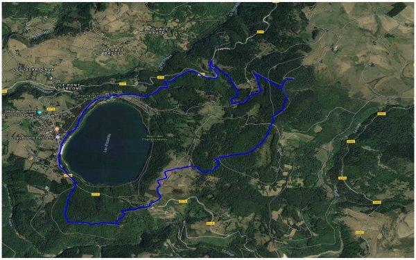 Le tour du lac d'Issarlès 15/06/2018