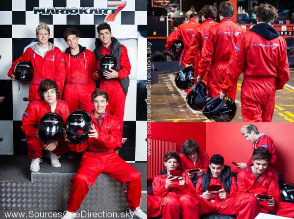 ++   20 février .   Photoshoot des garçons pour la promotion de Nintendo Mario Kart 7 ! +