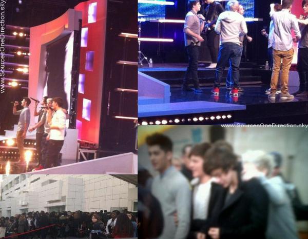 ++  20 février.   Photos des garçons en répétition pour le grand journal de canal+ ! +