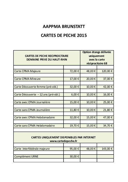 Achat carte de pêche 2015 (URNE - EHGO - CHI)