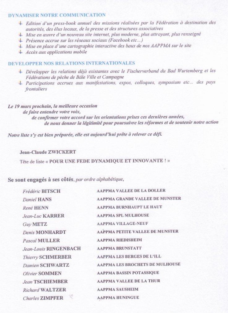 Lettre ouverte aux Présidents D'Aappma du Haut-Rhin, H moins 1