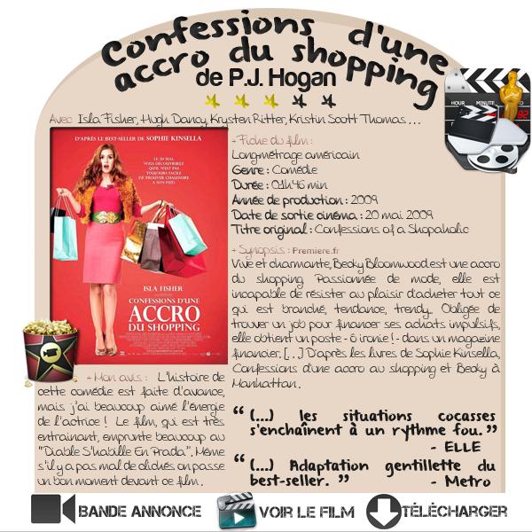 ARTICLE Cinéma  ■ Confessions d'une accro du shopping  de  P.J. Hogan
