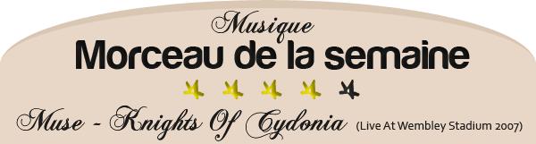 ARTICLE Musique  ■ Morceau de la semaine   12/11/11