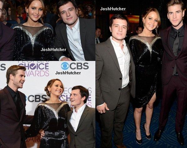 Le 9 janvier, Josh était accompagné de Jennifer Lawrence et Liam Hemsworth aux People's Choice Awards.
