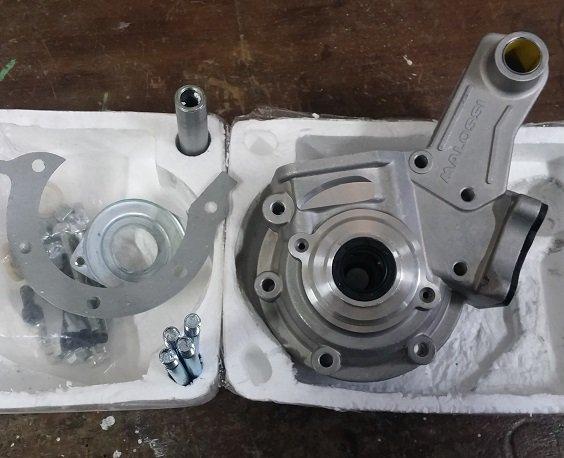 Changement carter moteur origine part des Malossi