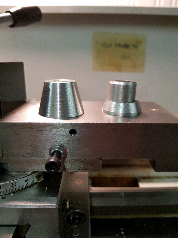 Tour à métaux _ avant/après et premier usinage
