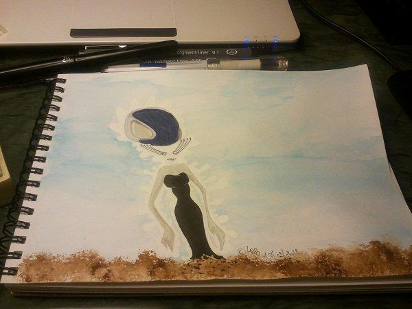 Alien in the water
