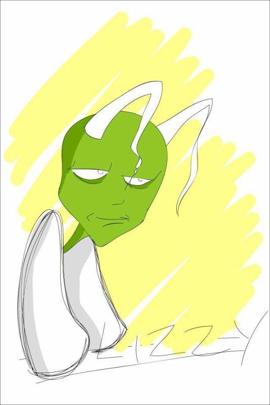 Fan Art d'un Alien vert