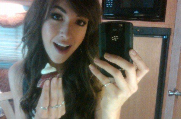 Kate et son Blackberry (merci pour la pub !)