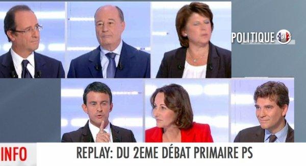 REPLAY: 2EME DÉBAT TÉLÉVISÉ DE LA PRIMAIRE PS
