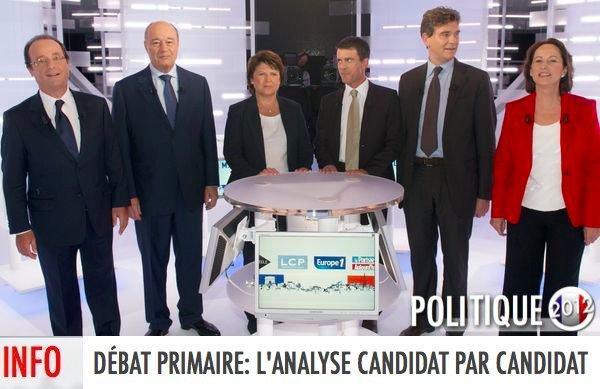 DÉBAT PRIMAIRE: L'ANALYSE CANDIDAT PAR CANDIDAT