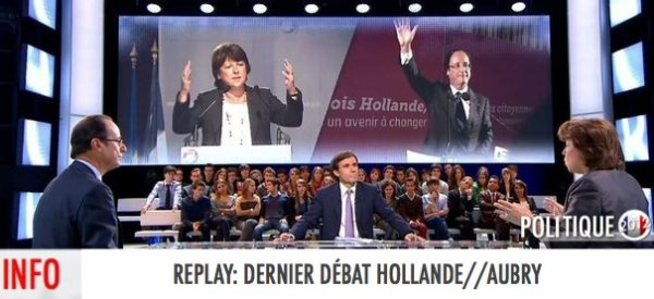 REPLAY: DÉBAT ENTRE MARTINE AUBRY ET FRANÇOIS HOLLANDE