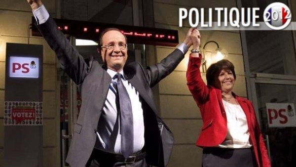 L'une des images fortes de la soirée: Martine Aubry et François Hollande réunit malgré tout!