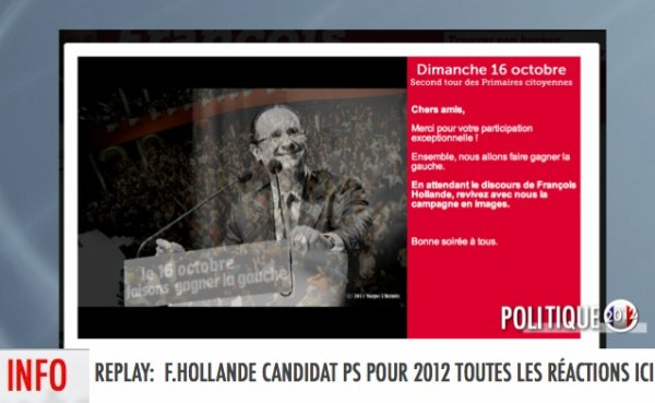 REPLAY: DE LA SOIRÉE PRIMAIRE, DE LA FERMETURE DES BUREAUX DE VOTES À L'ANONCE DE F.HOLLANDE COMME VAINQUEUR