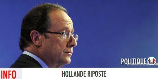 HOLLANDE RIPOSTE SUITE À L'INTERVENTION TV DE N.SARKO