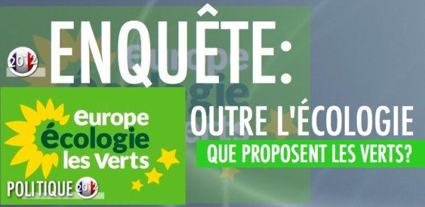 EELV: CE QUE PROPOSENT LES VERTS OUTRE L'ÉCOLOGIE ? (2/2)