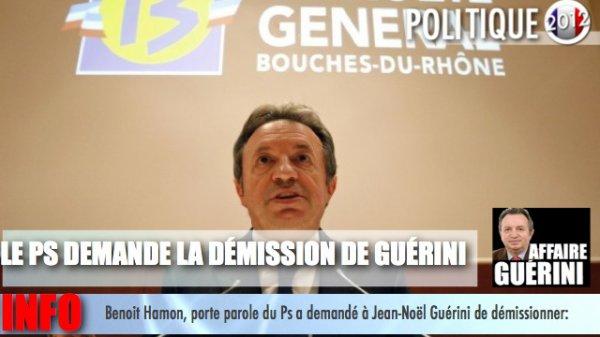 AFFAIRE GUÉRINI; LE PS DEMANDE LA DÉMISSION DE GUÉRINI