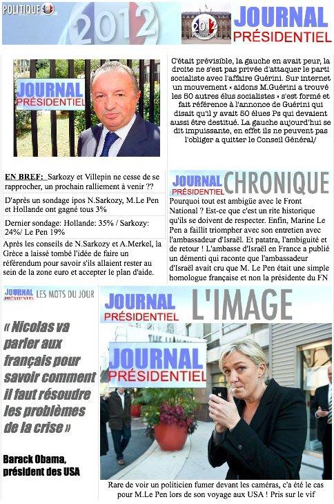 JOURNAL PRÉSIDENTIEL N°9