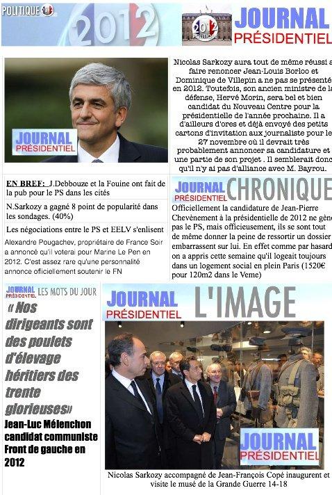 JOURNAL PRÉSIDENTIEL N°11