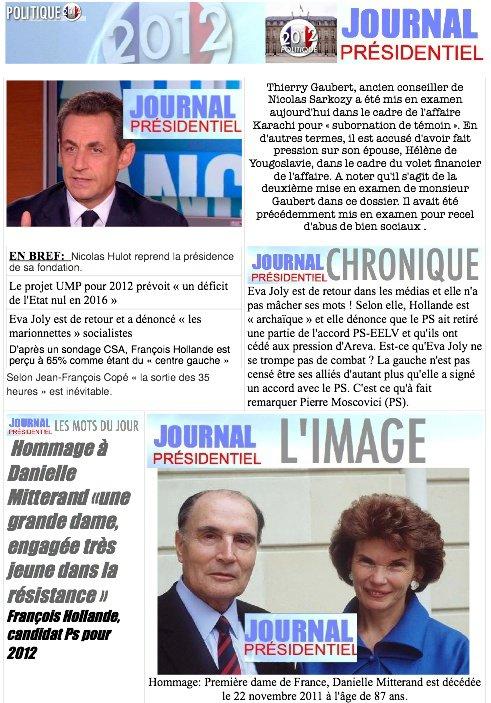 JOURNAL PRÉSIDENTIEL N°15