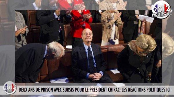 DEUX ANS DE PRISON AVEC SURSIS POUR LE PRÉSIDENT CHIRAC: LES RÉACTIONS POLITIQUES ICI