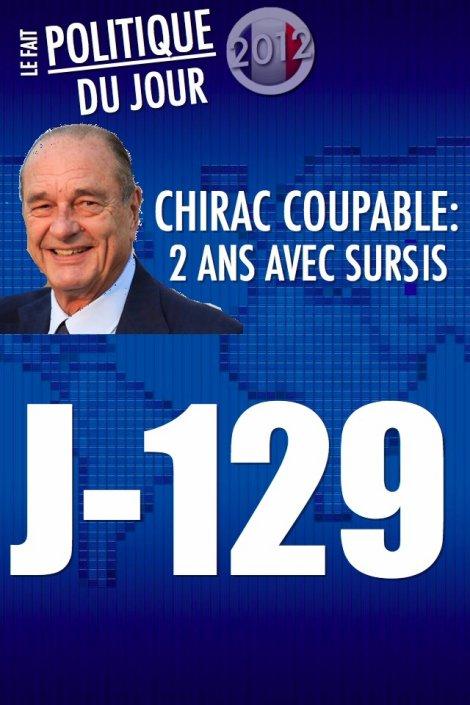 JACQUES CHIRAC CONDAMNÉ À DEUX ANS DE PRISON AVEC SURSIS